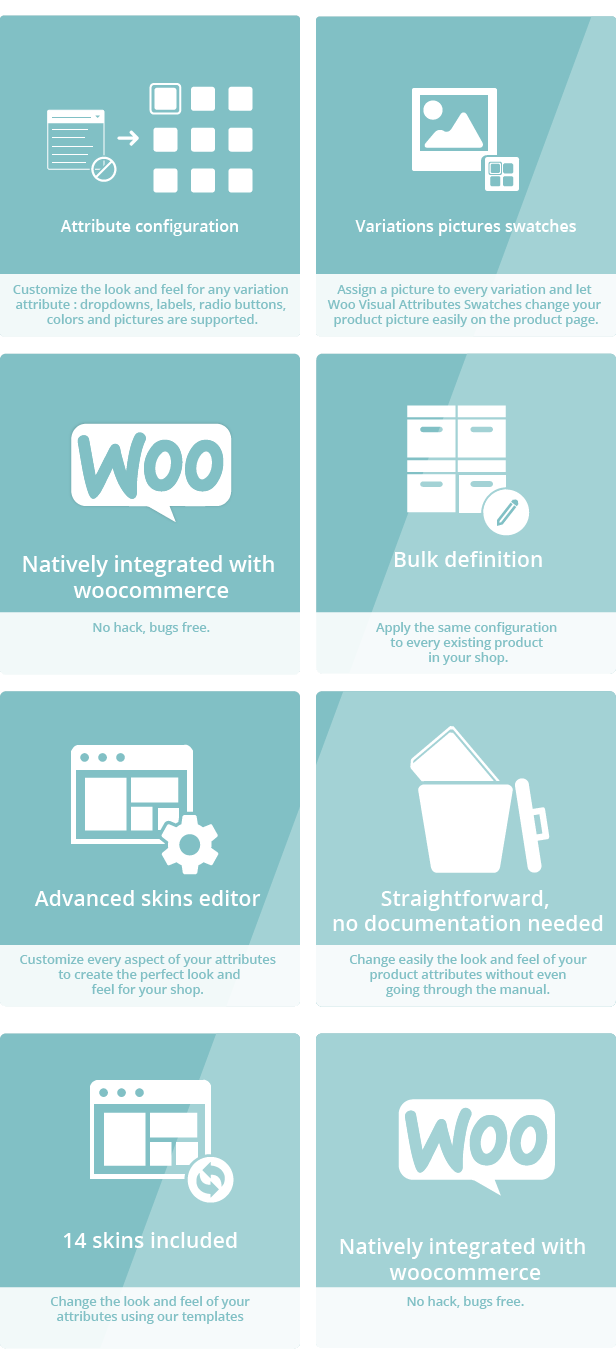 Woocommerce Visual Attributes & Options Swatches 2
